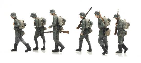 Artitec 387.404 Marschierende Deutsche Infanterie 6 Fig 1:87