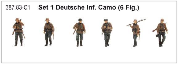 Artitec 387.83-C1 WM Dt. Infanterie Camo  WWII 1:87 Set 1 mit 6 Figuren