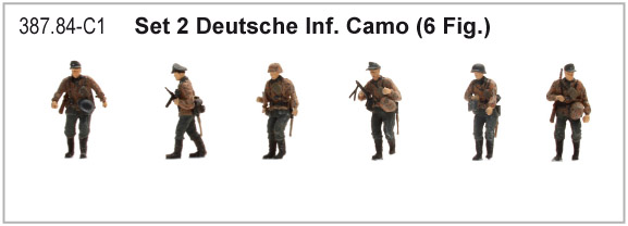 Artitec 387.84-C1 WM Dt. Infanterie Camo WWII 1:87 Set 2 mit 6 Figuren