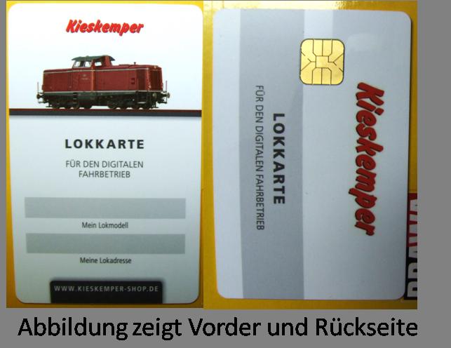 Exklusive Lokkarte Kieskemper V 100 für Märklin CS 2 60214 od 60215 CS 3