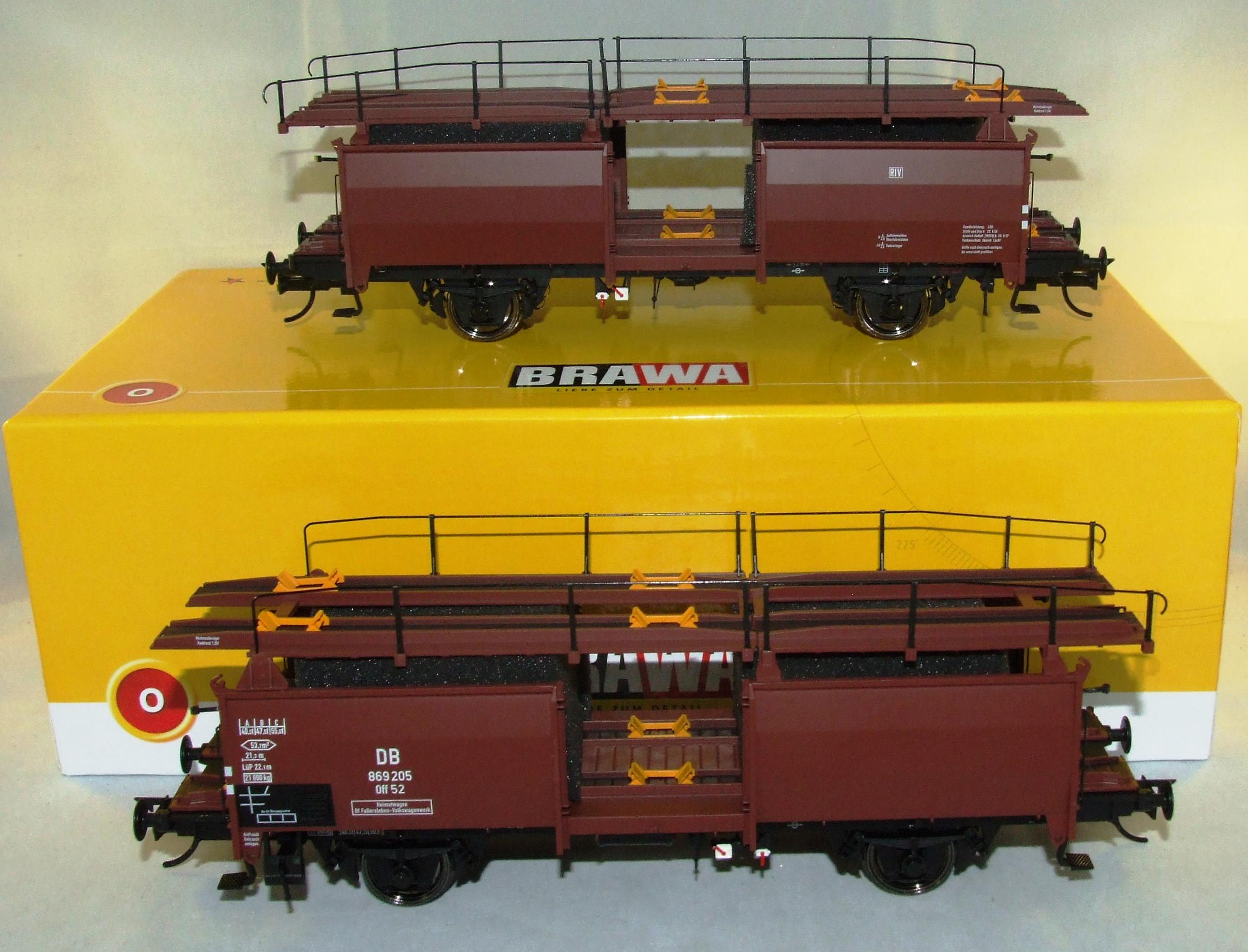 BRAWA 37054 Spur 0 Autotransport Off 52 DB III Exklusiv Modell limitiert 1:45