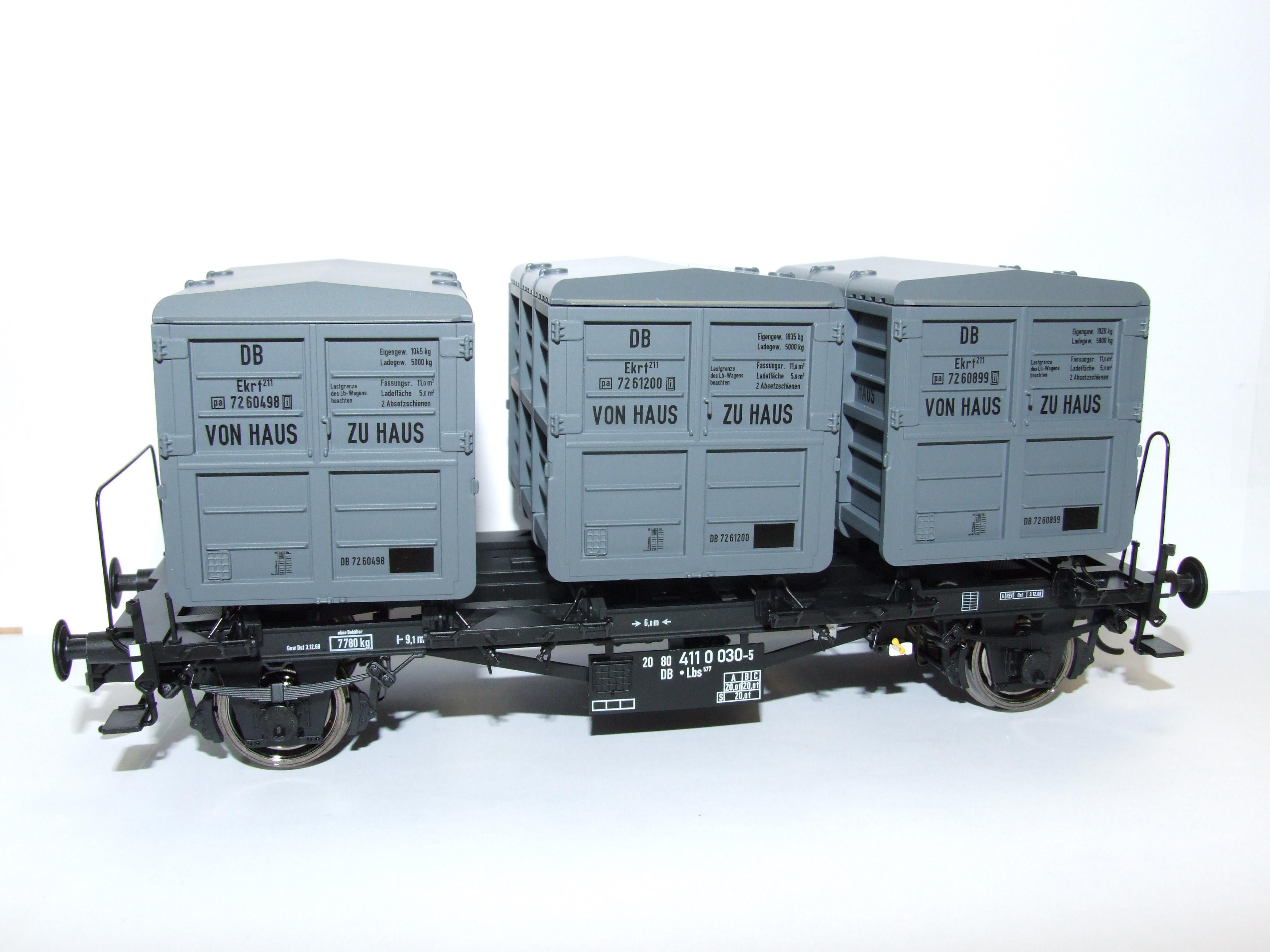 BRAWA 37161 Spur 0 Behältertragwagen Lbs577 DB EP IV