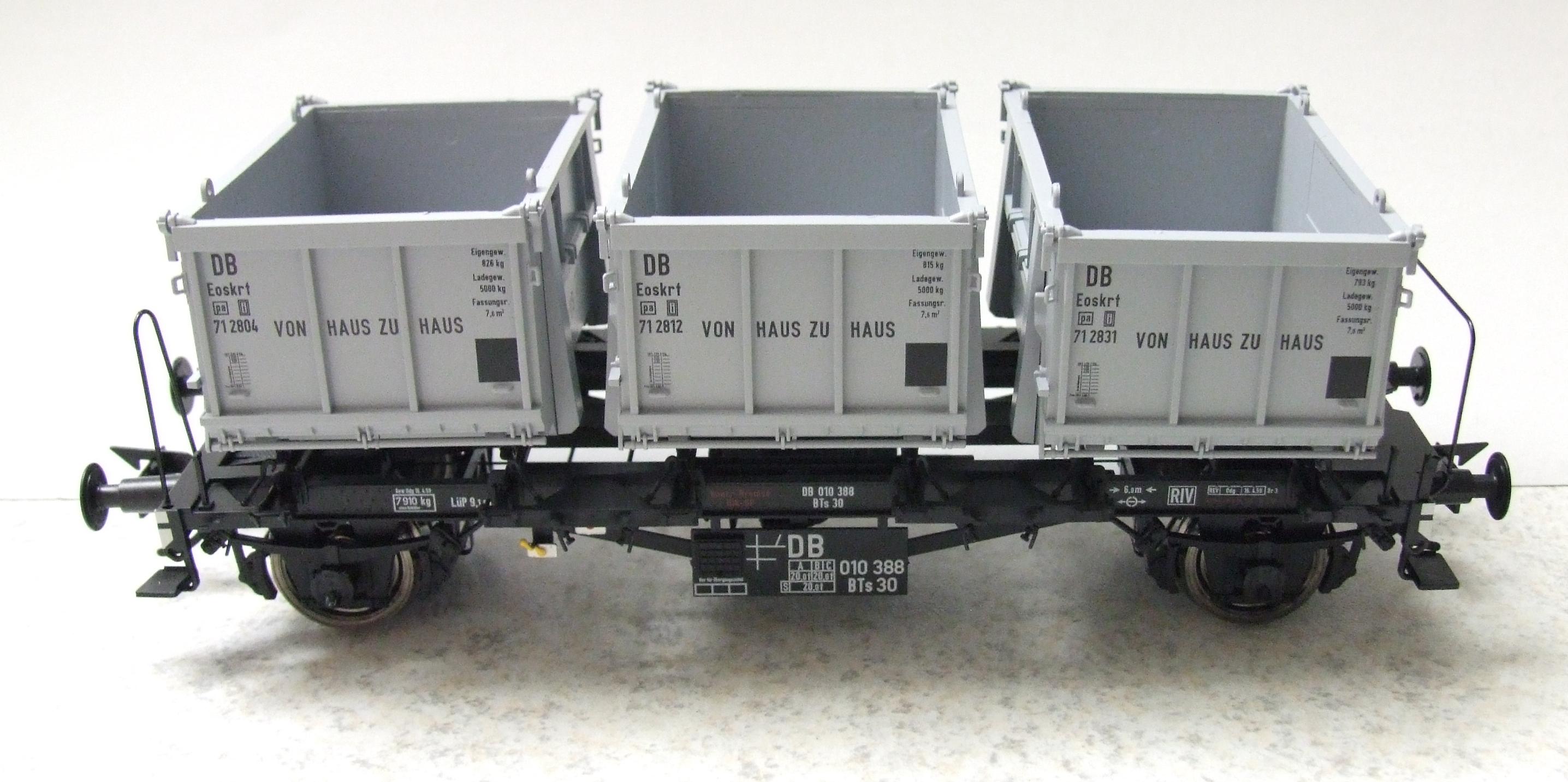 BRAWA 37163 Spur 0 Behälterw.agen BTs30 DB EP III