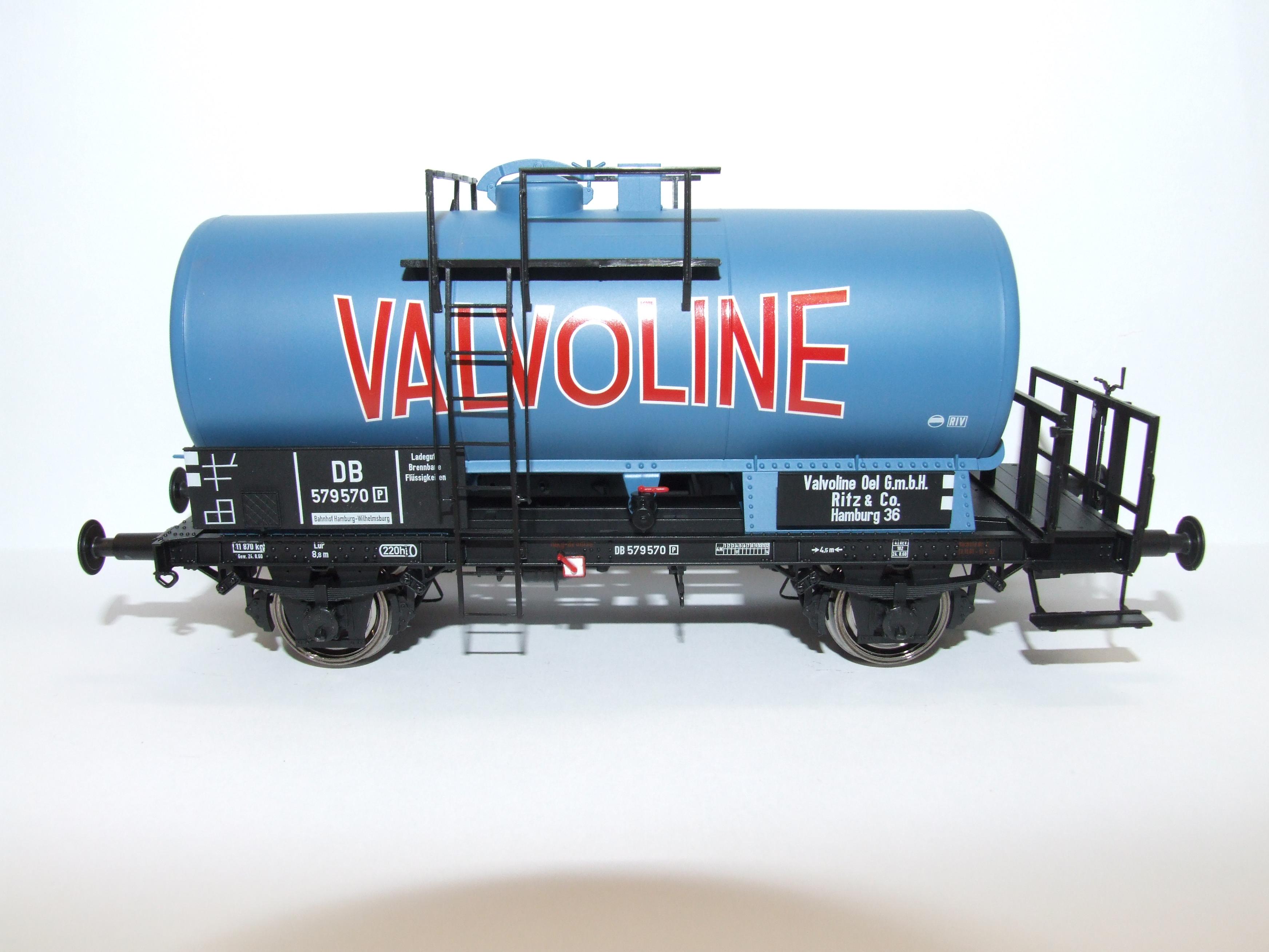 BRAWA 37251 Spur  0 Kesselwagen 2-Achser DB, EP III, Valvoline
