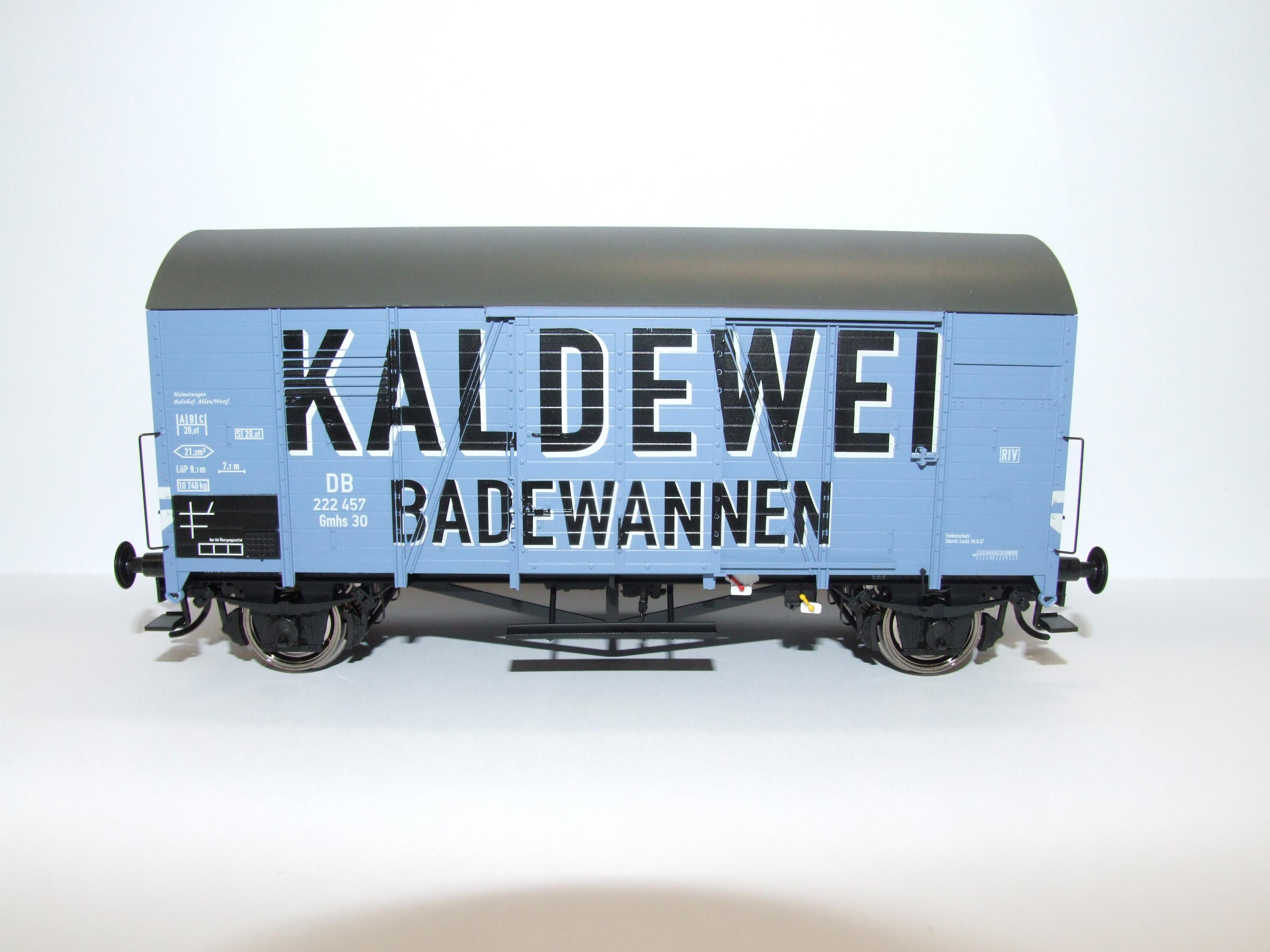 BRAWA 37354 Spur 0 Ged Güterwagen Kaldewei Exclusiv Modell limitiert