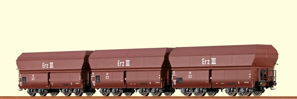 BRAWA 47030 H0 Selbstentladewagen ERZ III Ootz DB III 3er-Set DC
