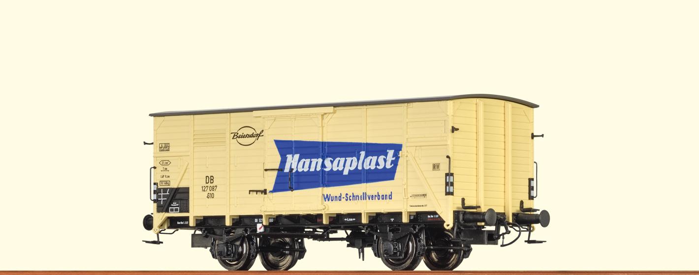 BRAWA 49035 Spur H0 Güterwagen G10 DB, III, Hansaplast DC