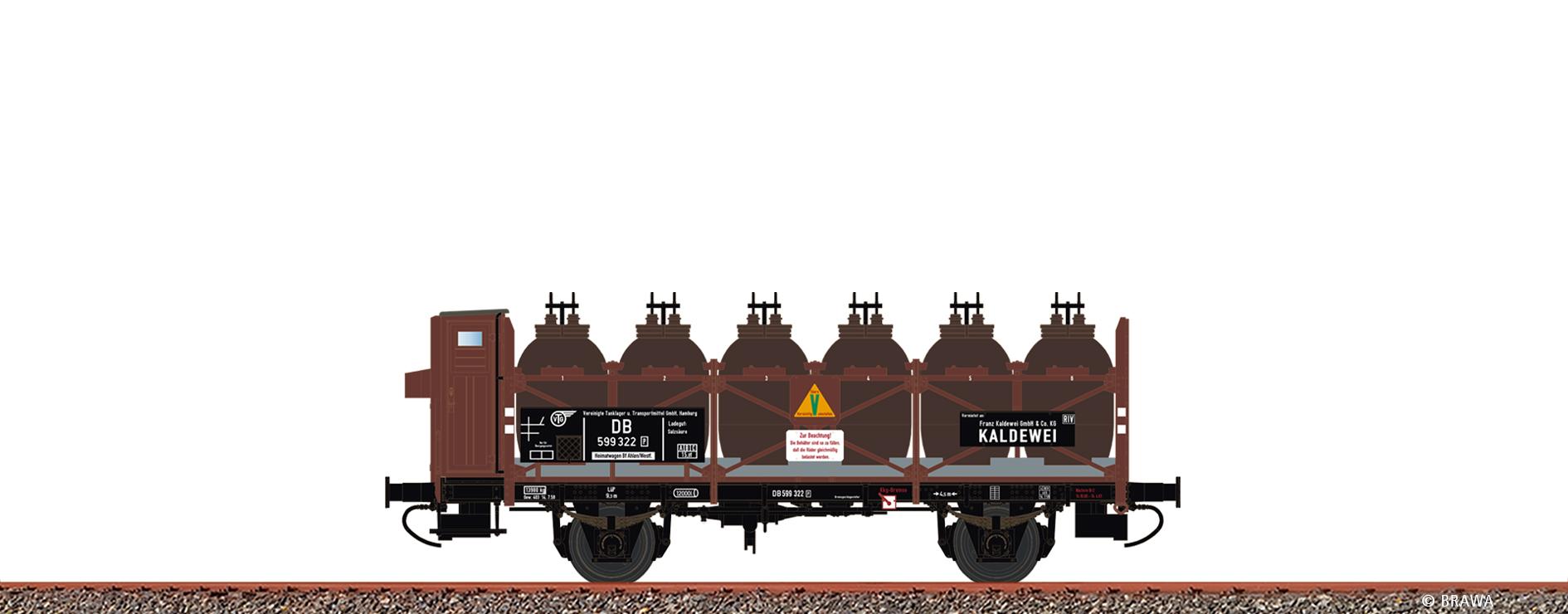 BRAWA 49324 Spur H0 Säuretopfwagen Z [P] DB, III, Kaldewei DC