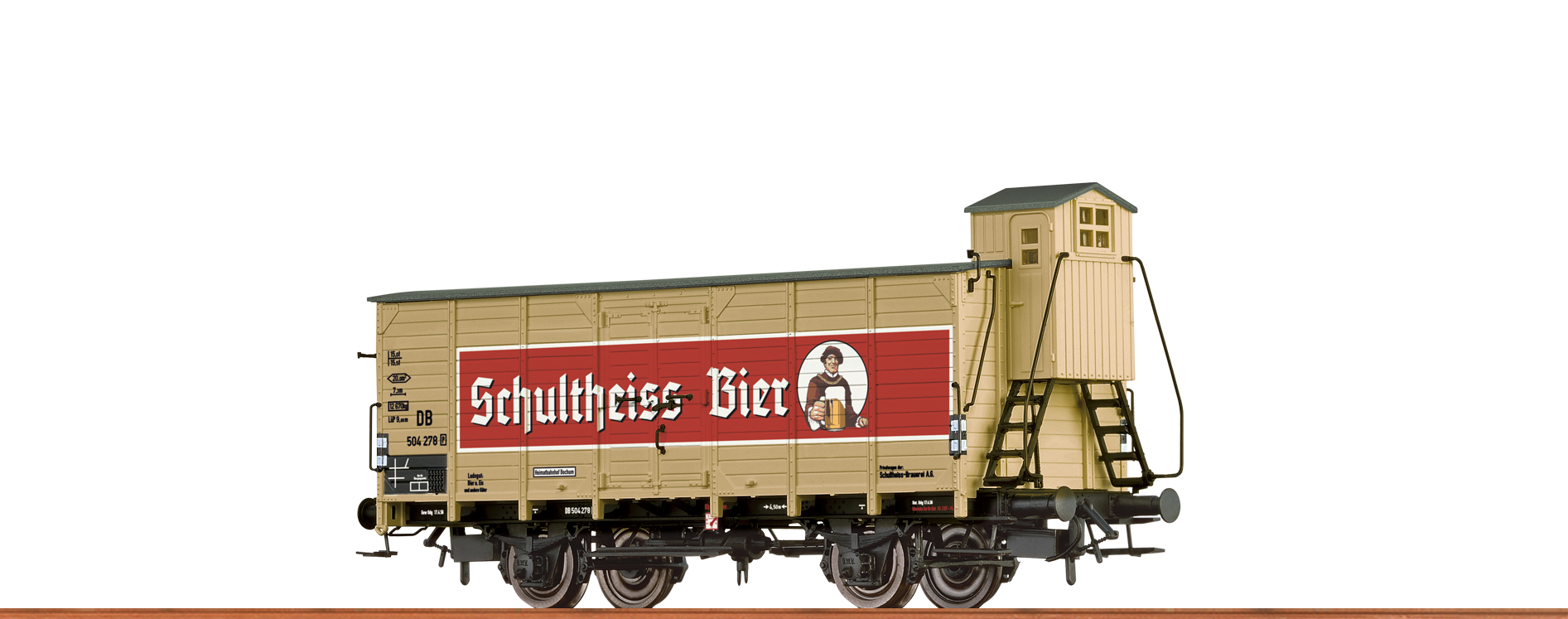 BRAWA 67474 Spur N Bierwagen G10 DB, III, Schultheiss