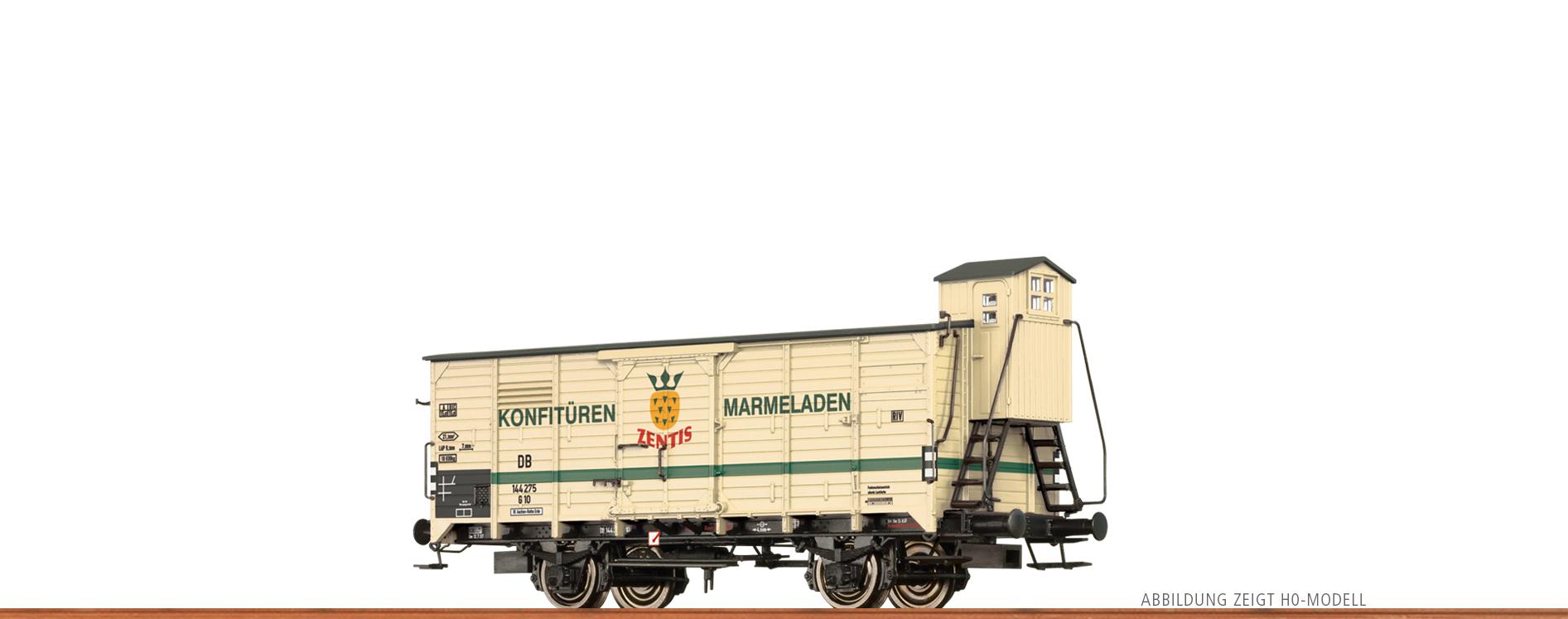 DC Zentis Spur N BRAWA 67491 Gedeckter Güterwagen G10 der DB III