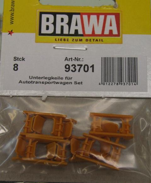 BRAWA 93701 Spur 0 Unterlegkeile Set [8St]