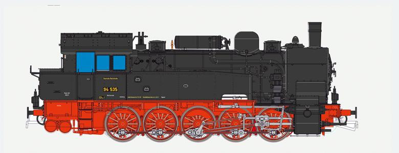 VO ESU H0 31104 Dampflok, H0, BR T16.1, 94 535, DRG, Ep II, schwarz, Vorbildzust