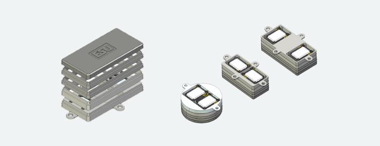 ESU 50340  Lautsprecherset, Dual 11x15mm, Modulares Schallkapselset