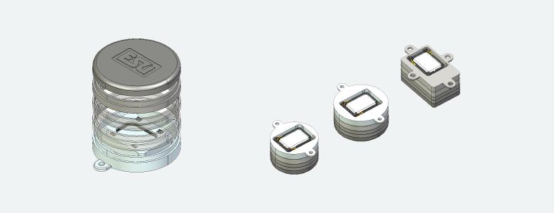 ESU 50341  Lautsprecherset, Single 11x15mm, Modulares Schallkapselset