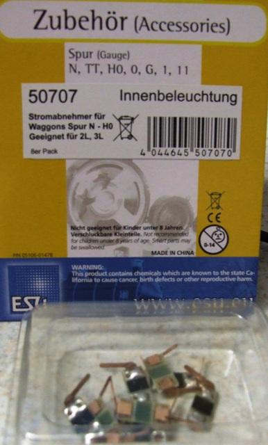ESU 50707 Stromabnehmer / Radschleifer universal für Spur N - 1, 2 od 3 Leiter