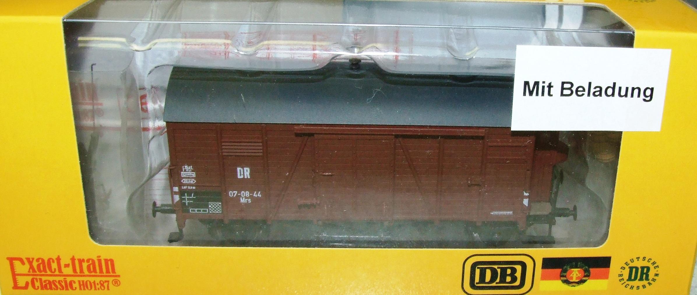 Exact-train EX20267 DR Oppeln mit Beladung (Bremserhaus/Gleitlager) Epoche 3