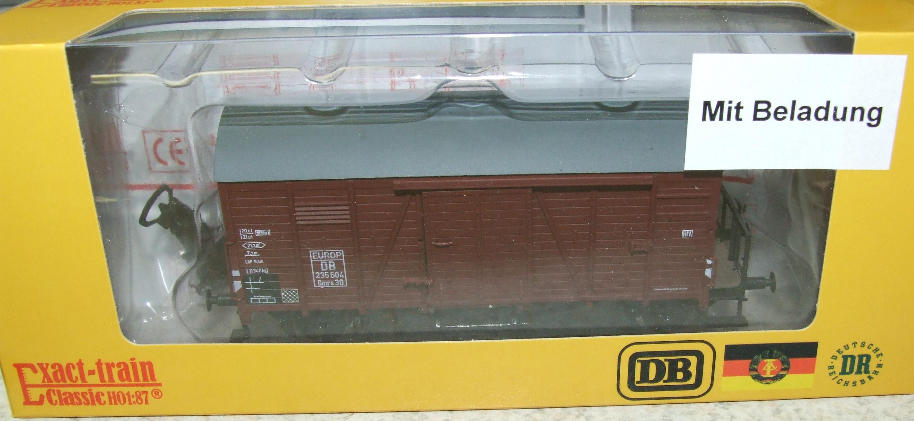 Exact-train EX20269 DB Oppeln EUROP mit Beladung (Bremserbühne/Gleitlager) Epoche 3