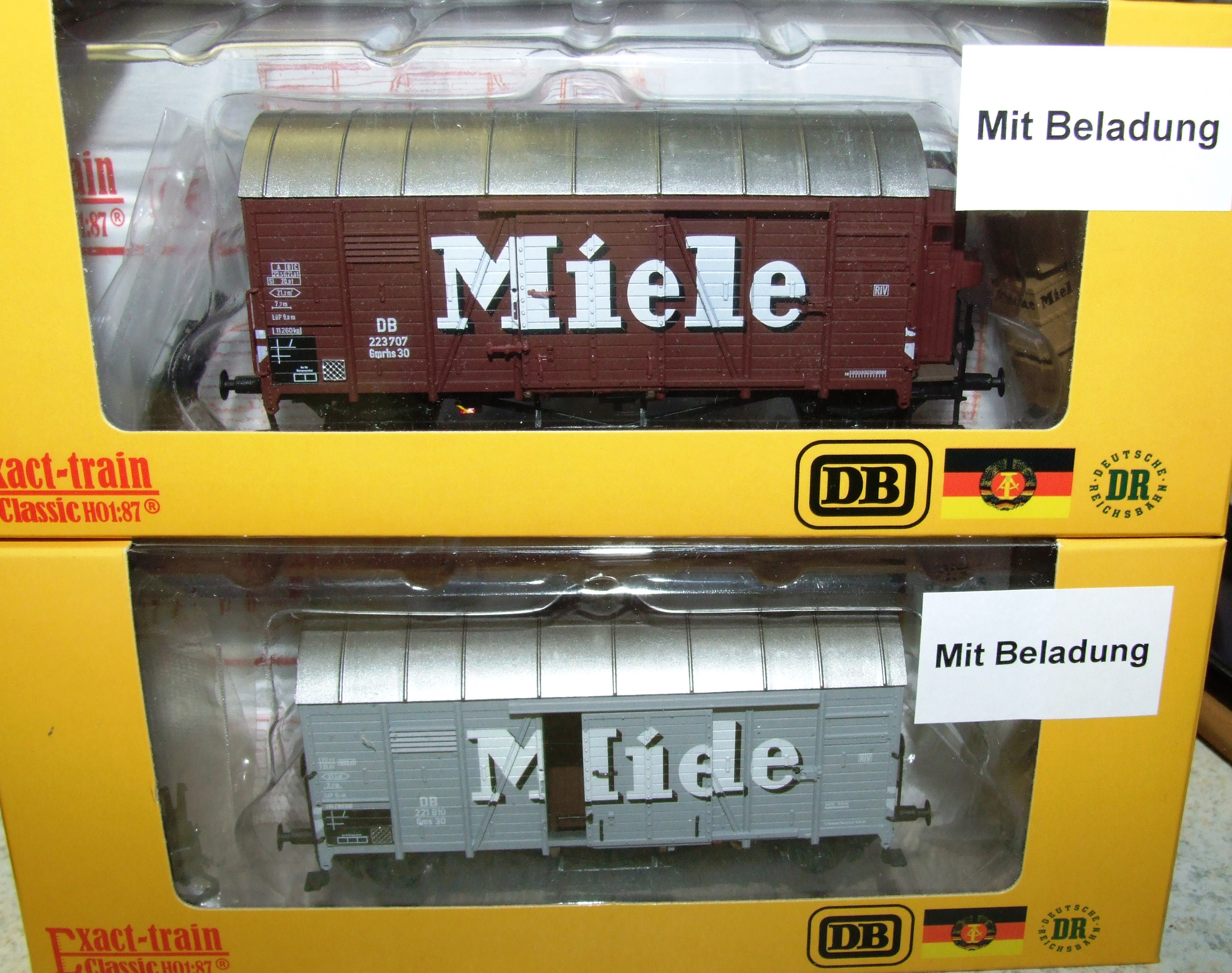 Exact-train EX20277 DB Oppeln Miele Braun (Bremserhaus/Gleitlager) mit Beladung