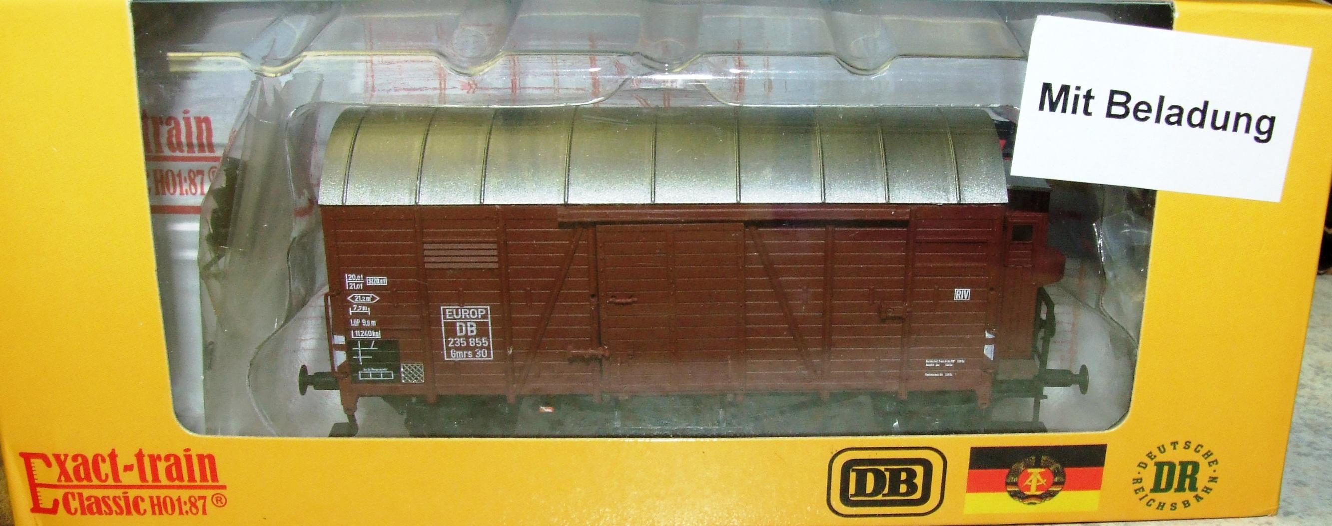 Exact-train EX20278 DB Oppeln EUROP mit Beladung (Bremserhaus/Gleitlager) Epoche 3