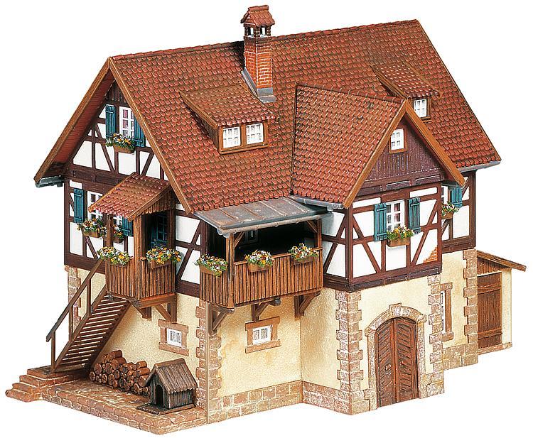 Faller h0 bausatz 130266 fachwerkhaus for Fachwerkhaus aufbau