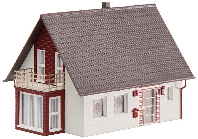 Faller H0 130318 Bausatz Einfamilienhaus (weinrot) UVP 15,49 €