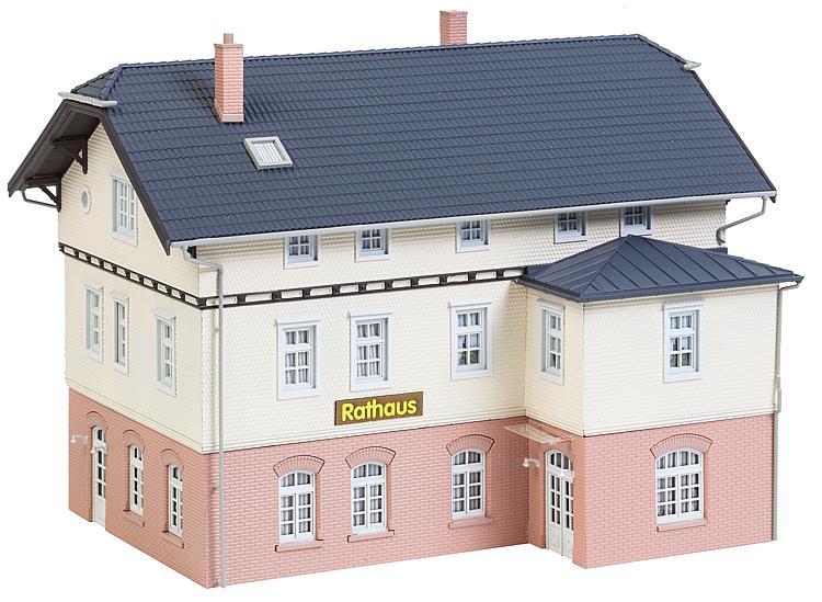 Faller 130457 Bausatz Rathaus mit Schule