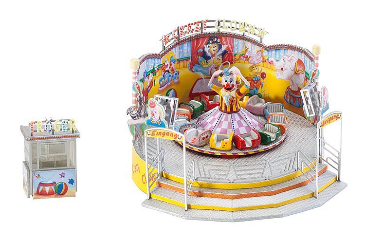 FALLER H0 140424 Bausatz Kirmes Fahrgeschäft Crazy Clown