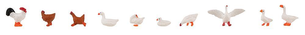 Faller 151909   Hühner, Enten und Gänse