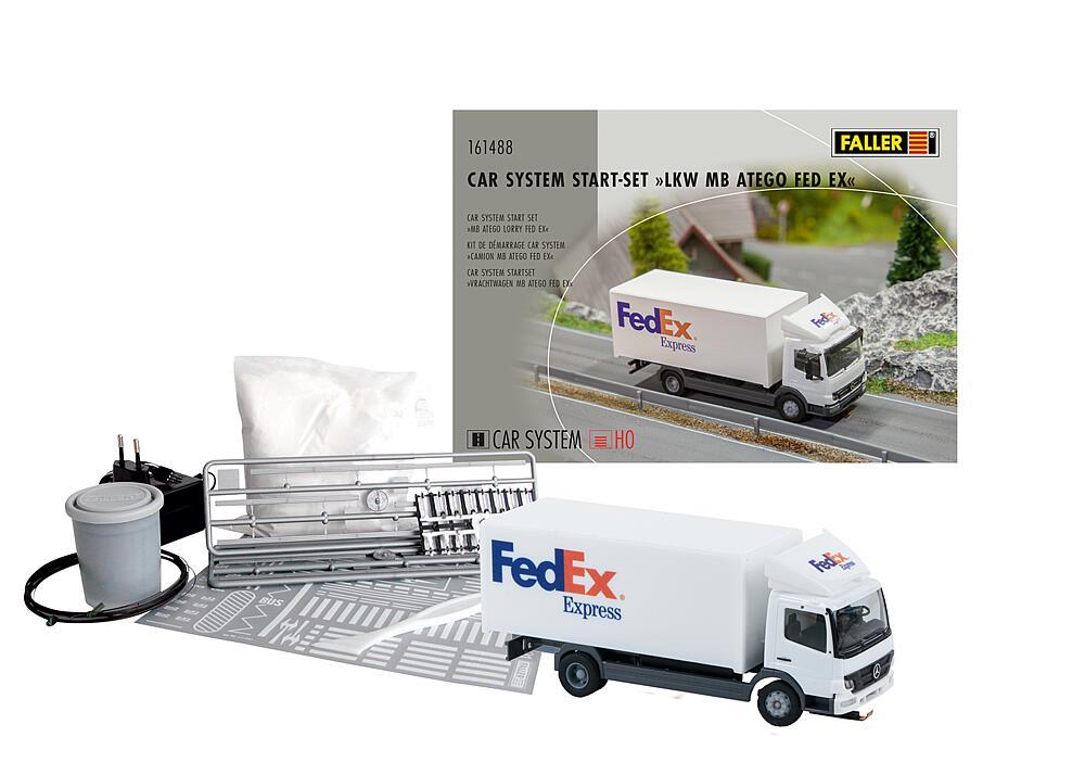Faller 161488 H0 Car System Start-Set LKW MB Atego FedEx