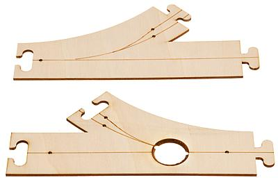 Faller H0 161940 Laser-Street Abzweigung und Einmündung 45°