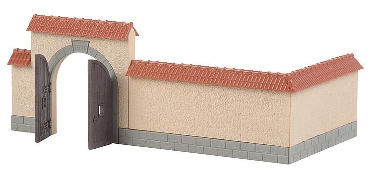Faller 180400 H0 Bausatz Mauer mit Tor