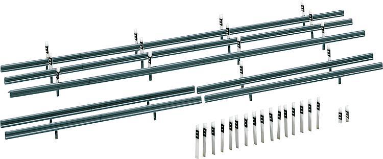 Faller 180535 H0 Leitplanken, 32 Begrenzungspfähle, 1600 mm