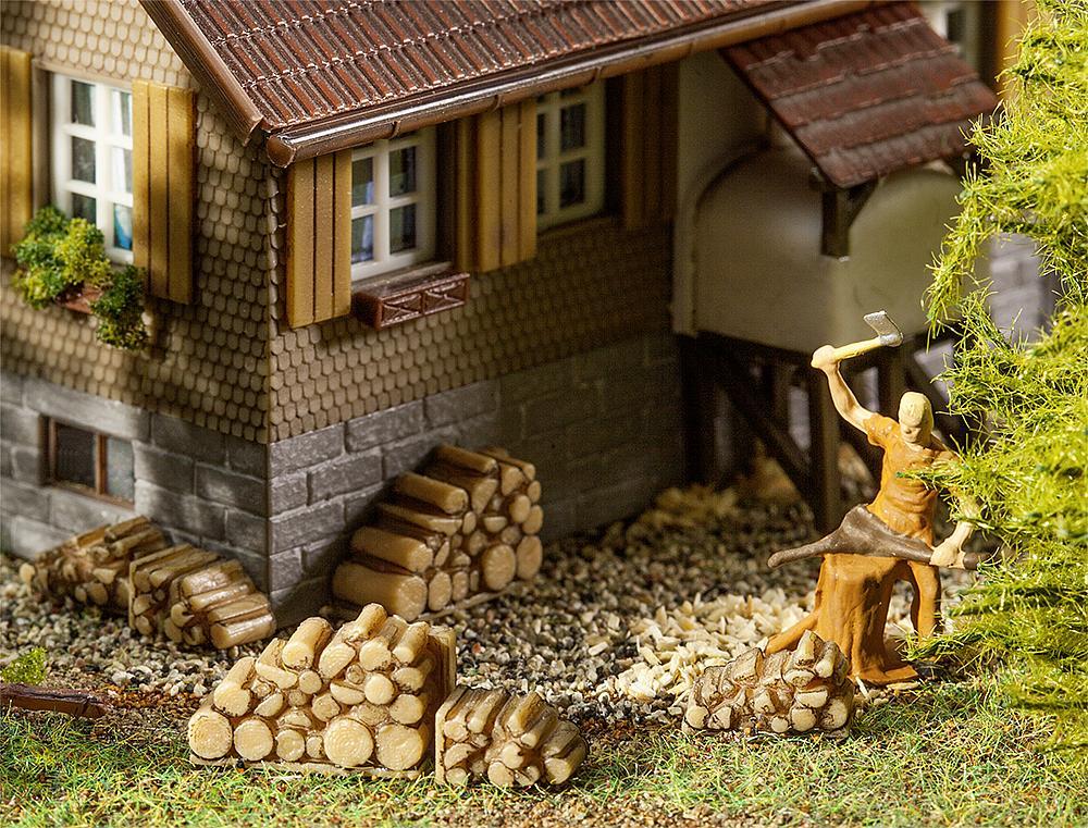 Faller 180940 H0 Bausatz 6 Kleine Brennholzstapel