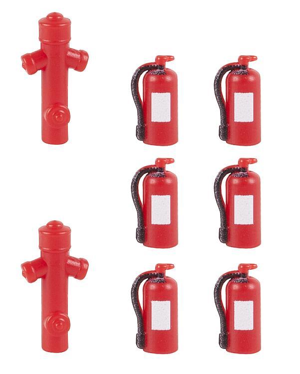 Faller 180950 H0 Bausatz 6 Feuerlöscher und 2 Hydranten