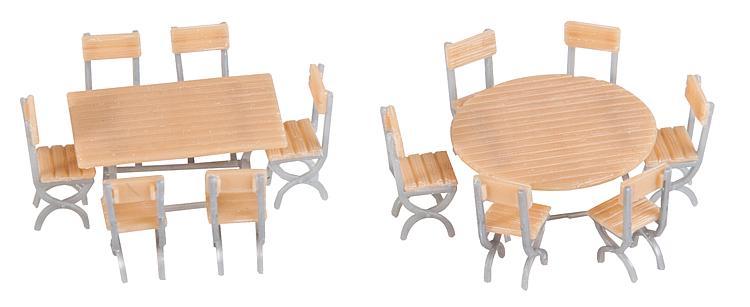 Faller 180957 Spur  H0  2 Tische und 12 Stühle