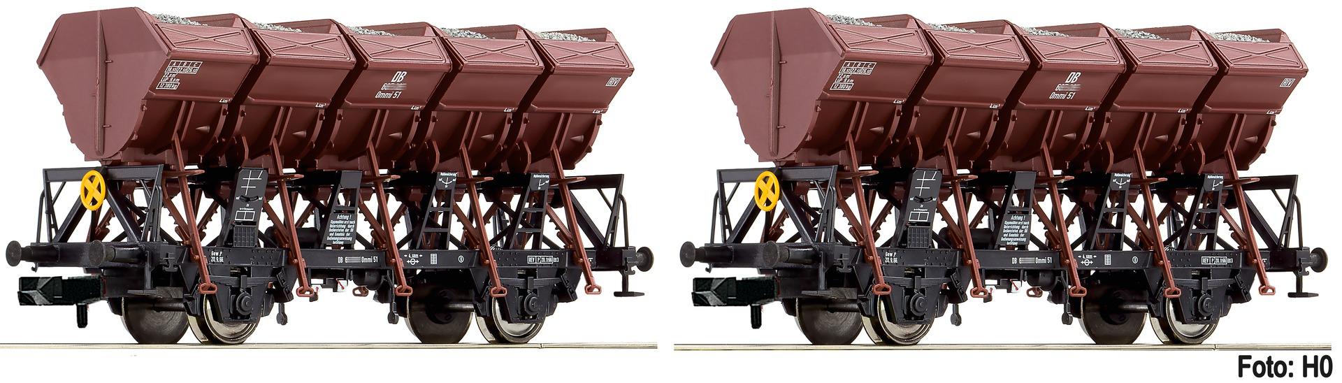 Fleischmann 845103 Spur N 2-tlg. Set Muldenkippwagen Ommi 51 DB EP III