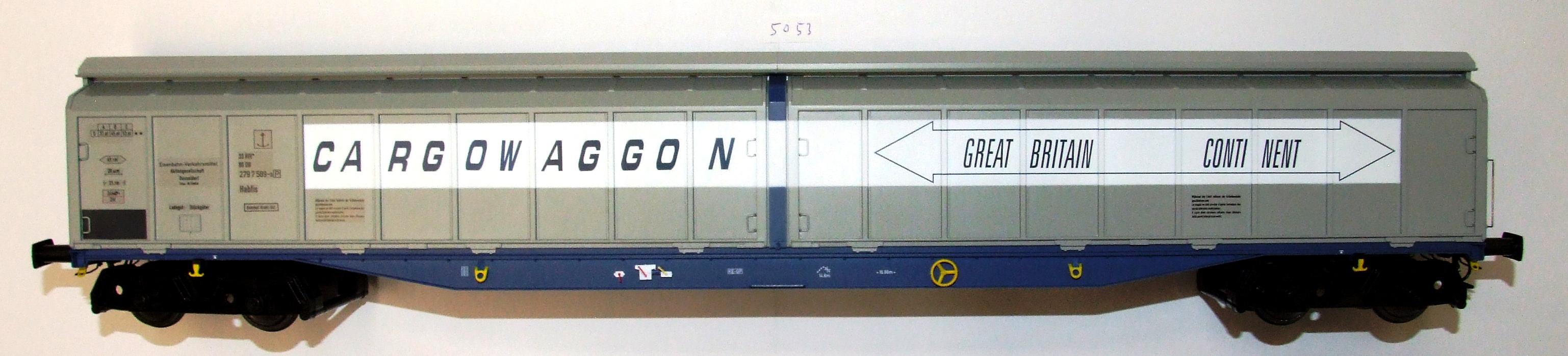 5053 Heljan Spur 0 Güterwagen Habfis H2 DB EP IV/V GB Conti