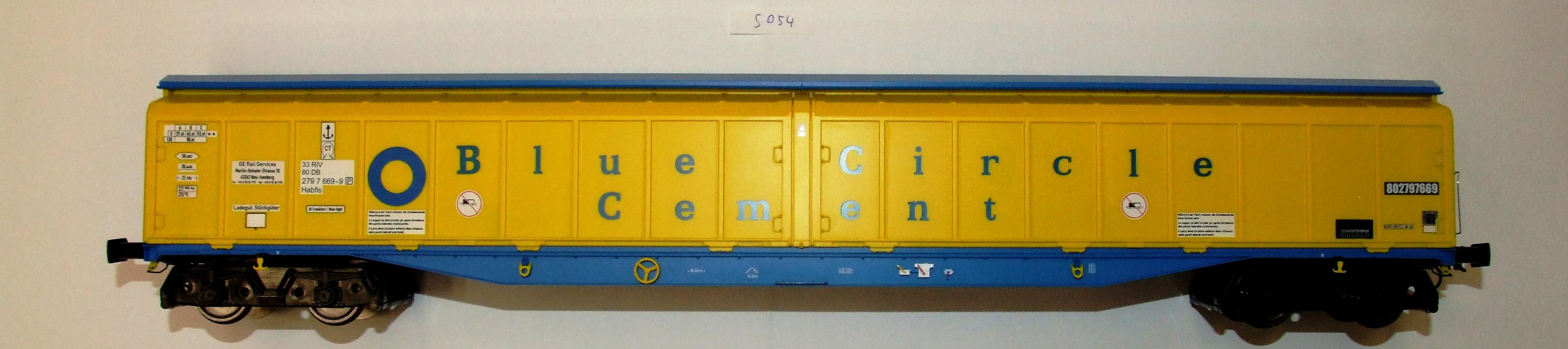 5054 Heljan Spur 0 Güterwagen Habfis H2 DB EP IV/V Blue CIR