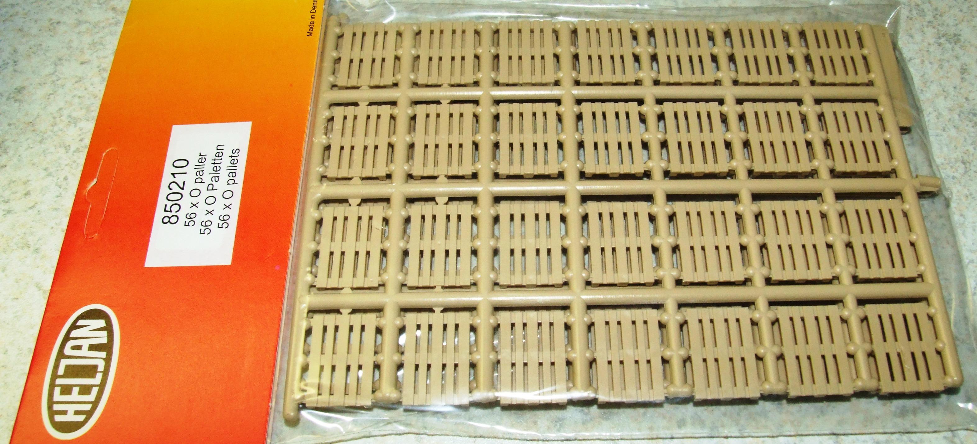 Heljan Spur 0 850210 Bausatz Paletten 56 Stück