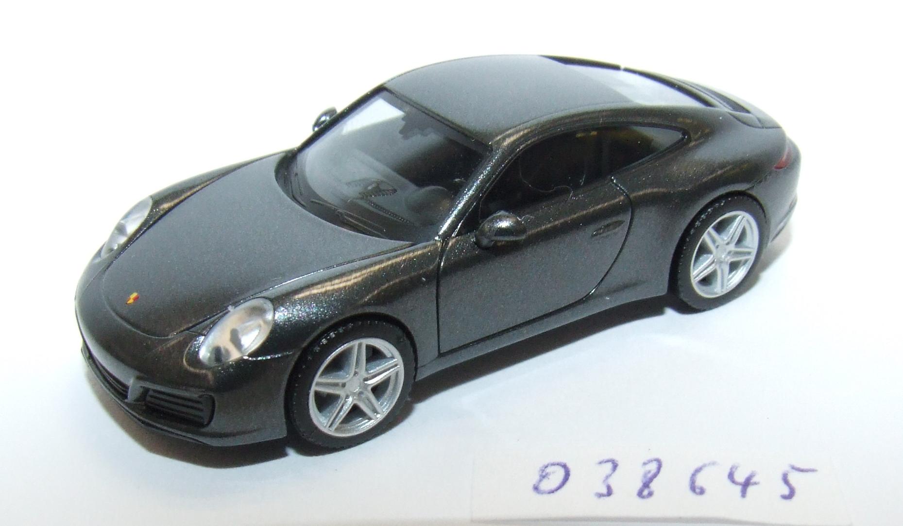 Herpa  038645 PKW Porsche 911 Carrera 4, achatgrau metallic 1:87