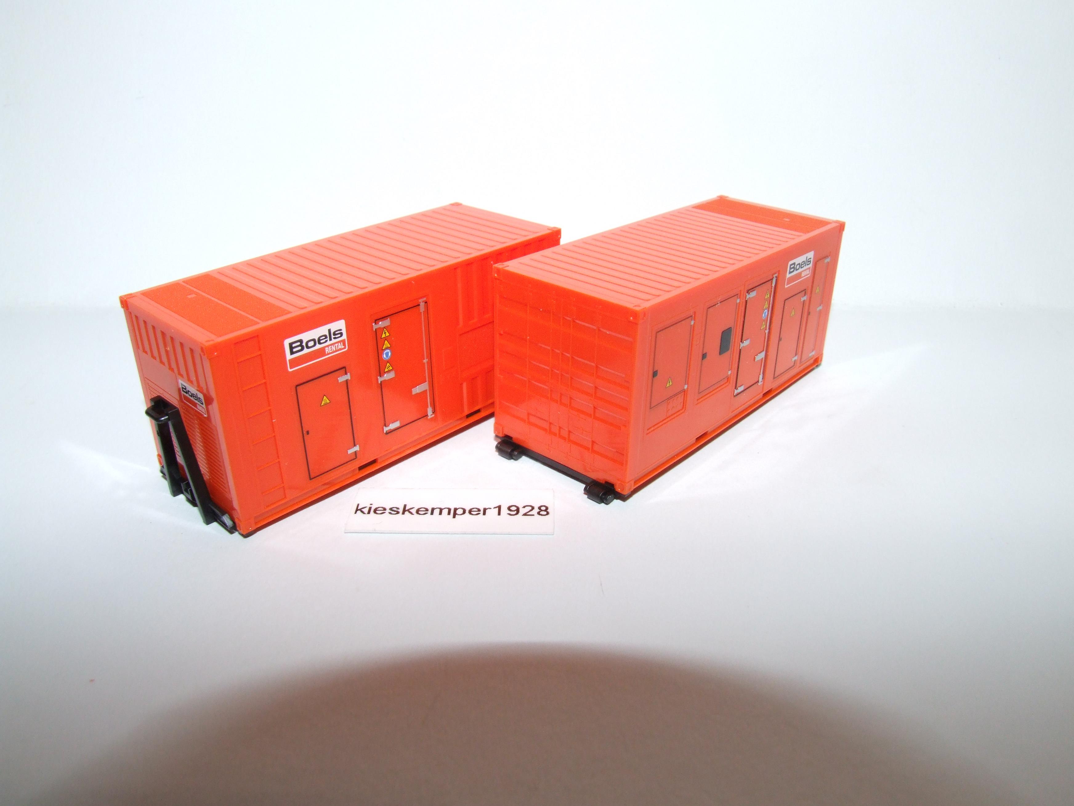 Cont Stromaggregat Boels 076890 Herpa Set 2x20 ft