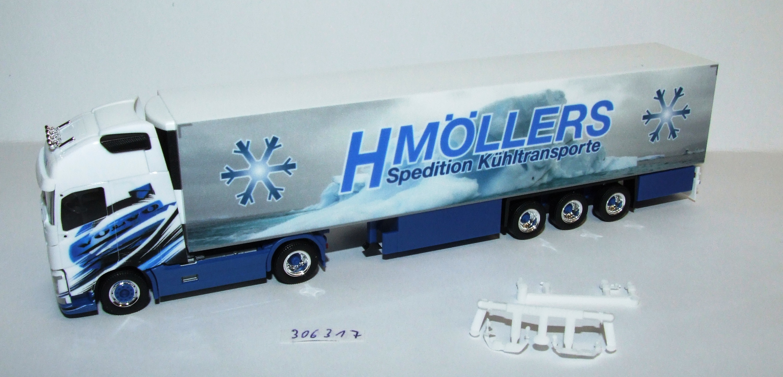 Herpa 306317 Volvo FH Gl. XL Kühlkoffer-Sattelzug Möllers Kühltransporte 1:87