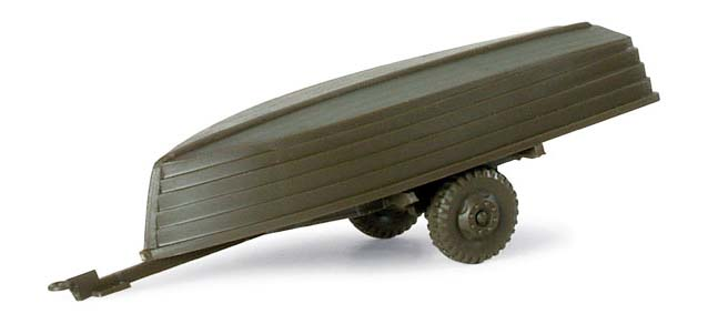 Herpa  741200 Minitanks Anhänger + 2 Boote BW/US 1:87