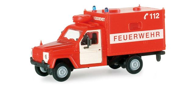 Herpa 742542 Minitanks MB Feuerwehr Rettungsdienst 1:87