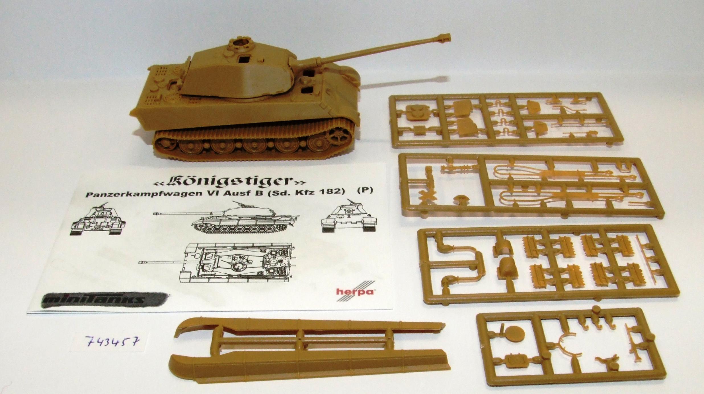 Herpa 743457 Minitanks Panzerpfw.VI Königstiger Porsche Turm DAK EDW 1:87