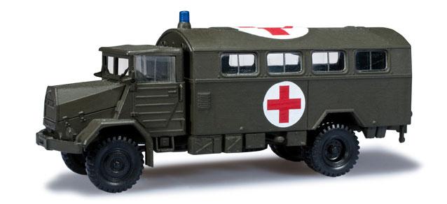 "Herpa 744577 Roco Minitanks MAN 630 Koffer-LKW ""Rotes Kreuz"" Bw 1:87"