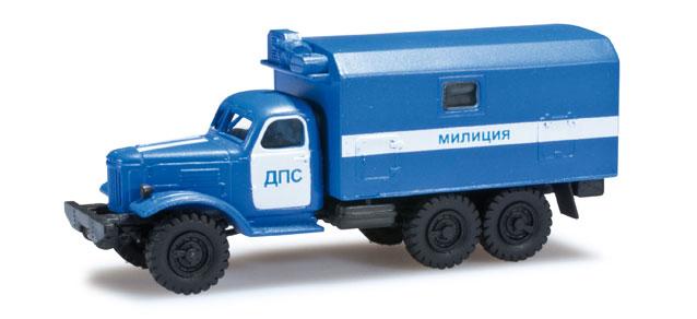 """Herpa H0 1:87 Roco Minitanks 744881  ZIL 157 Koffer-LKW """"Polizei Ukraine"""""""