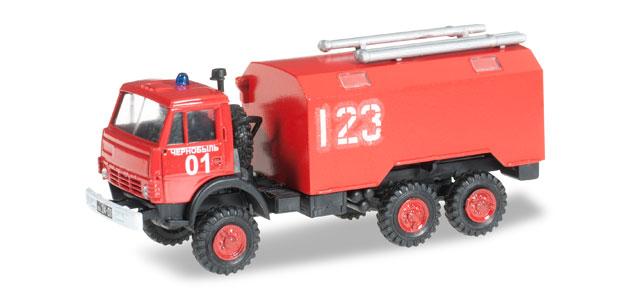 """Herpa H0 1:87 Roco Minitanks 744966 Kamaz 5320 Koffer-LKW """"Feuerwehr"""""""