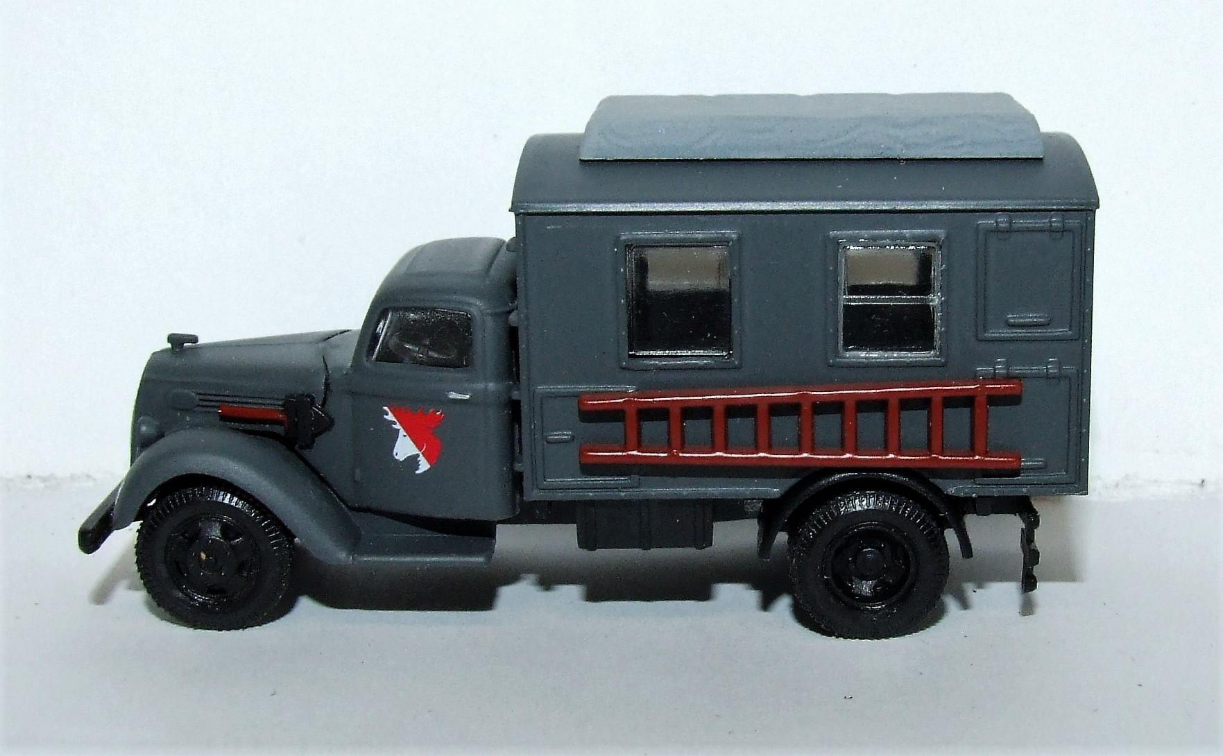 Herpa Military 745635 Ford 997 Koffer-LKW Leitung Fernmeldebatallion XXI. Armeekorps der Wehrmacht 1:87