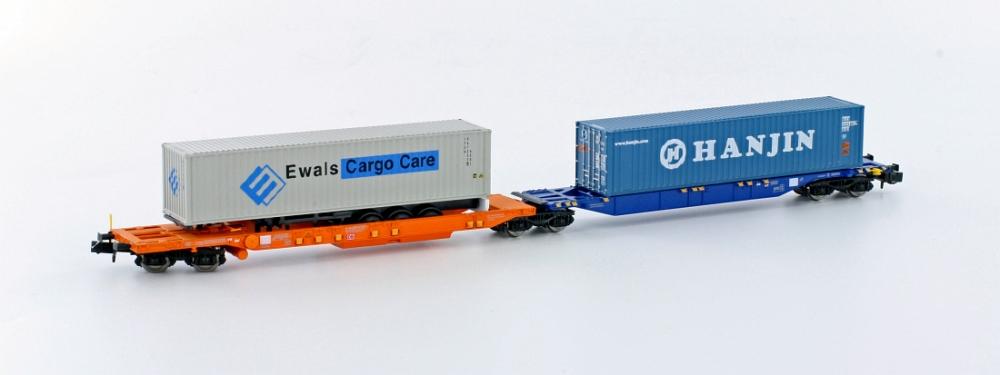 Hobbytrain H 23750-9 Containertragwg. Sdggmrs744 PAPAGEI Sturm